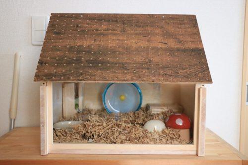 ハムスターハウス 木製手作りケージ