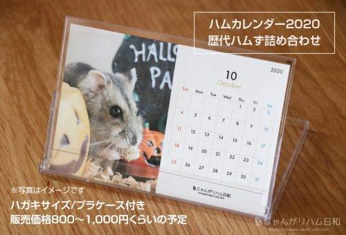 2020年ハムスターカレンダー
